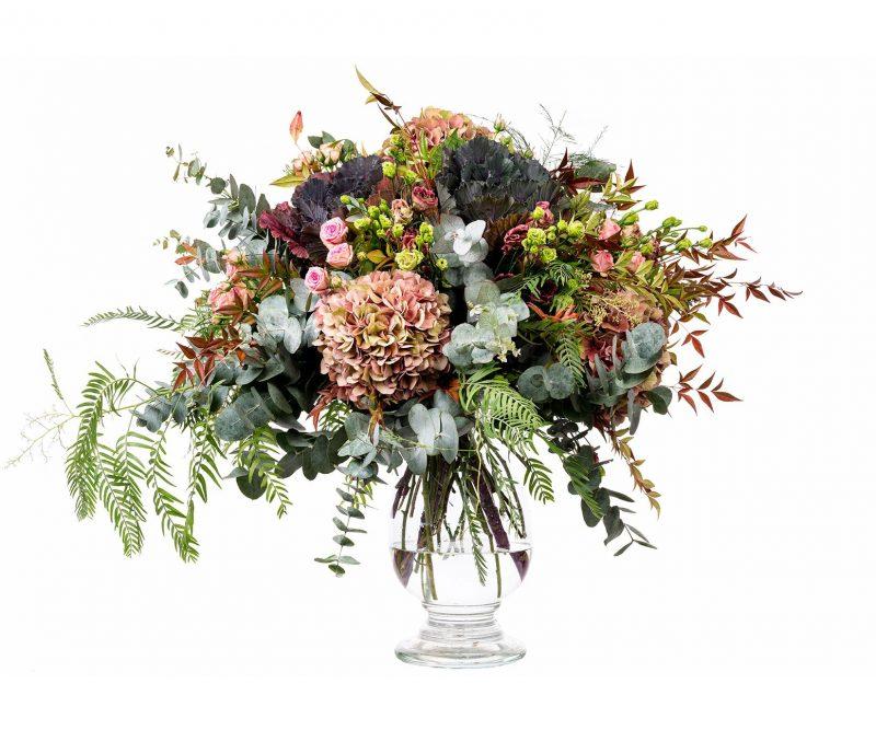 Bouquet Nº 18 Hydrangea, Rose, Lisianthus, Brassicas, Foliage