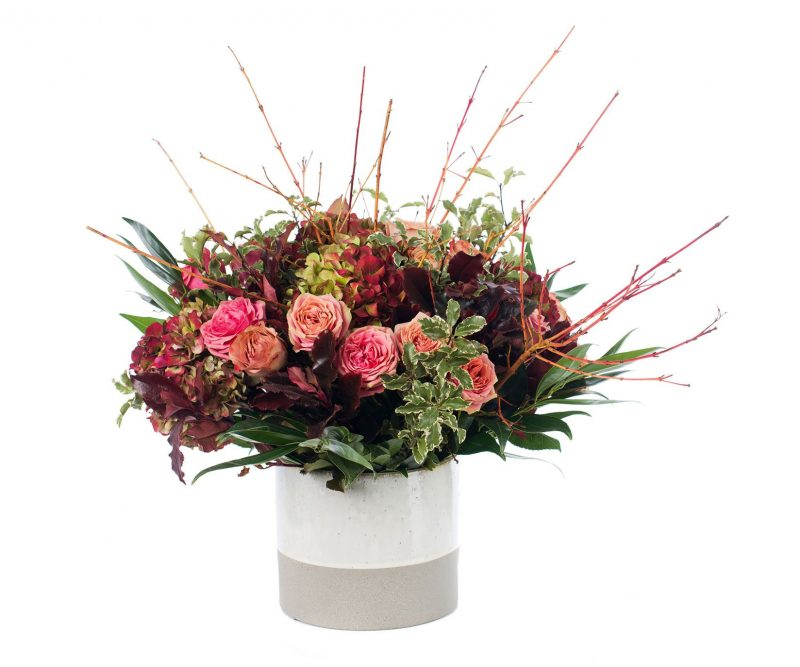 Bouquet Nº 17: Hydrangea, Rose, Foliage