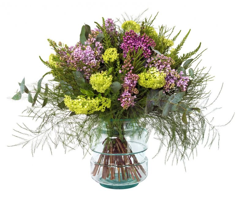 Bouquet  Nº 35: Lilacs, Viburnum, Foliage
