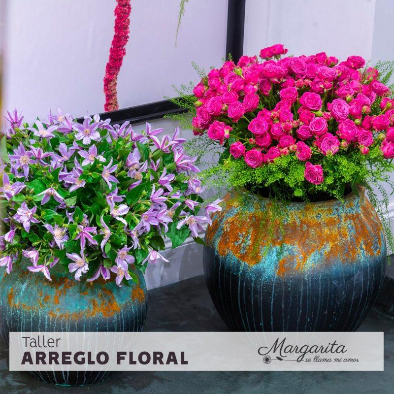 Taller arreglo floral - Margaria se llama mi amor - ramo de rosas en madrid